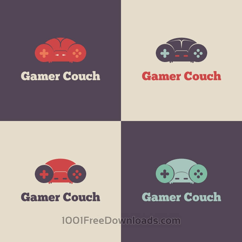 Free Gamer Couch Vector Logo
