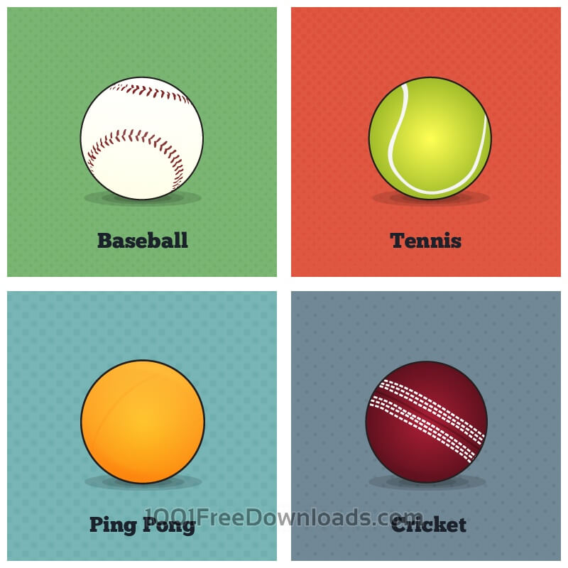 Free Vectors: Vector Sports Balls | Objects