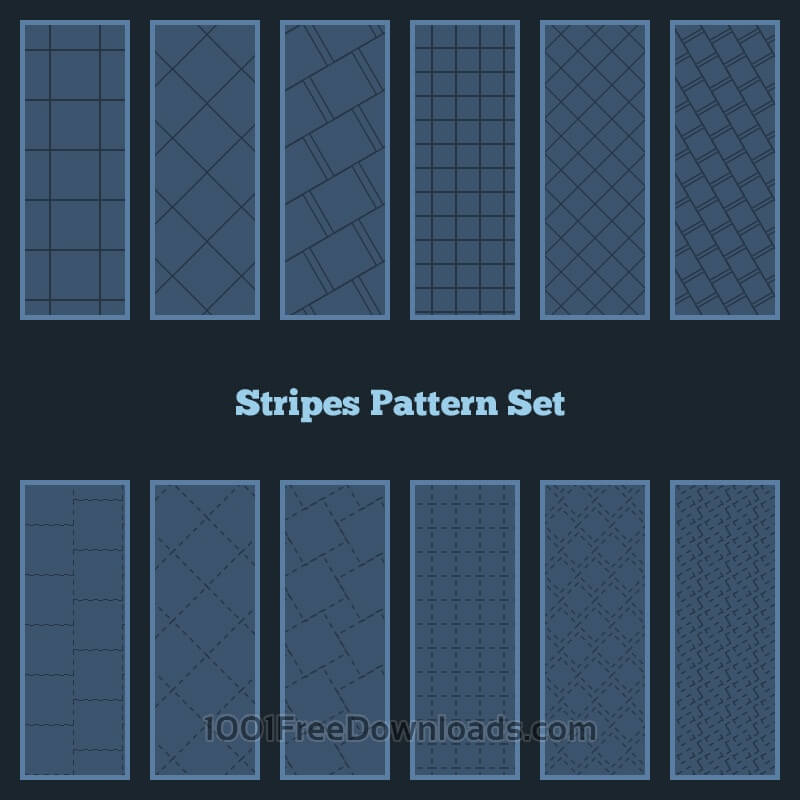 Free Stripes Pattern Set