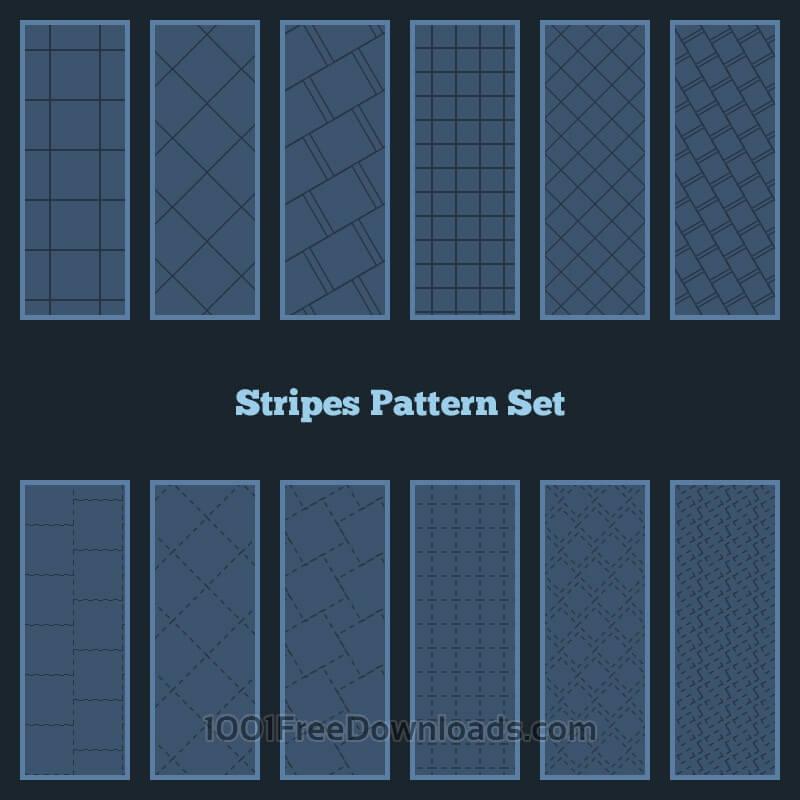 Free Vectors: Stripes Pattern Set | Backgrounds