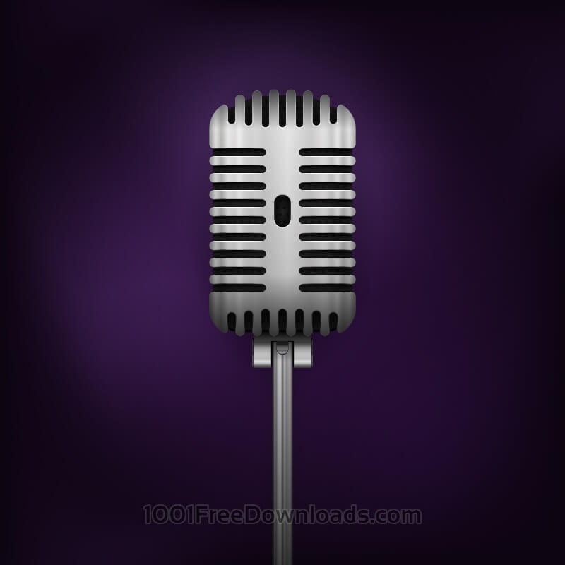 Free Retro Vector Microphone