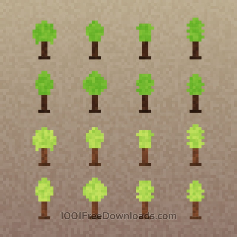 Free Pixel Trees Set