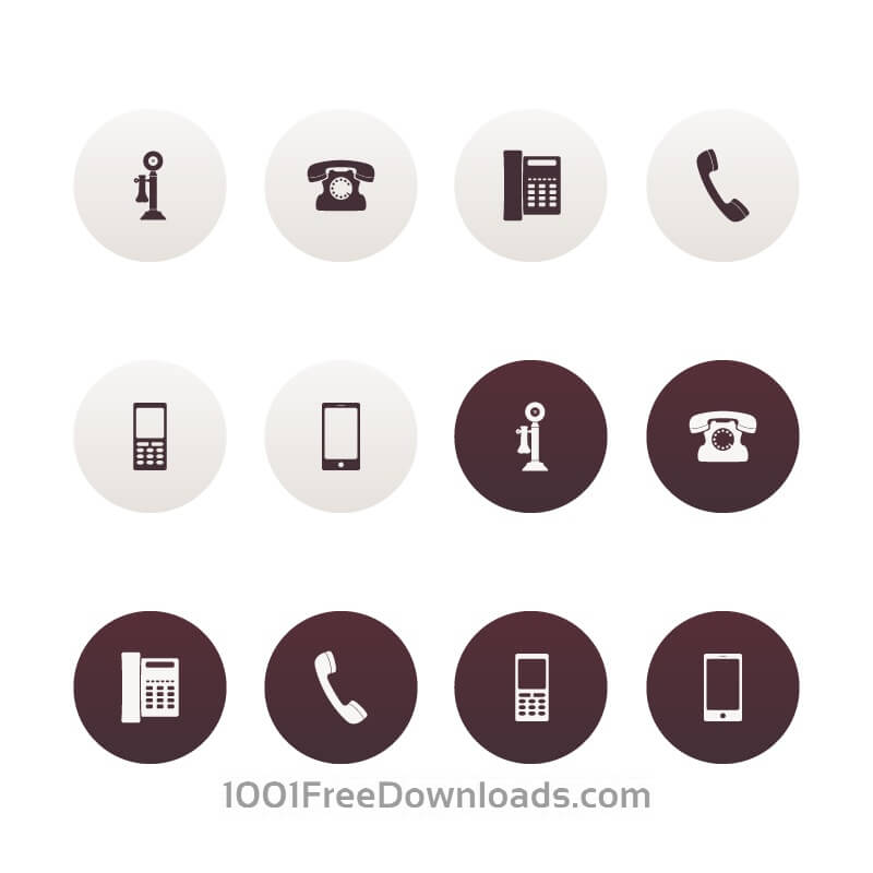 Free Vector Phone Icons