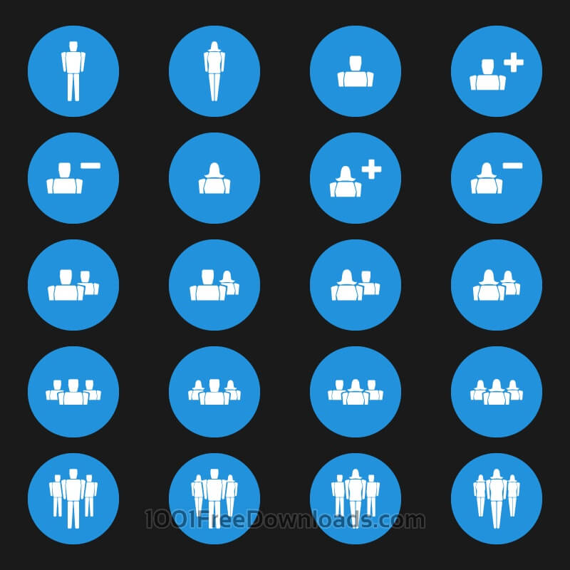 Free Vectors: People Vector Icons | Abstract