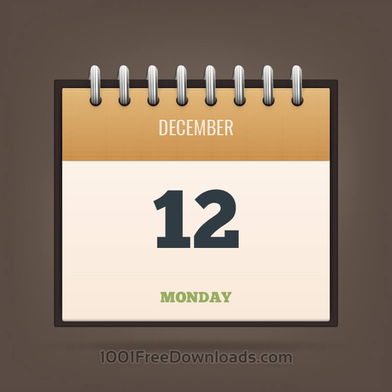 Free Vectors: Detailed Vector Calendar Icon | Abstract