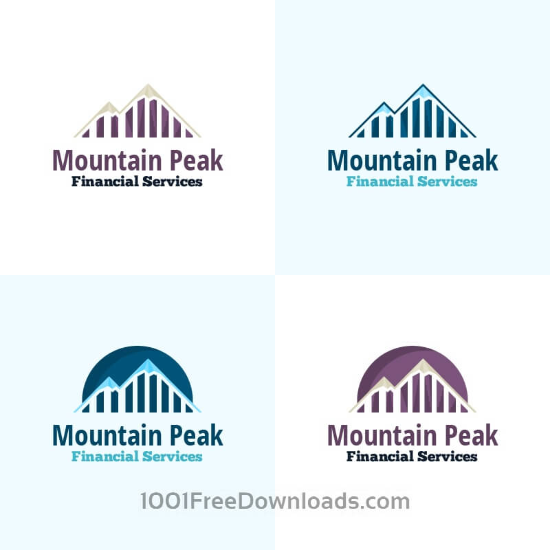 Free Mountain Peak Vector Logo