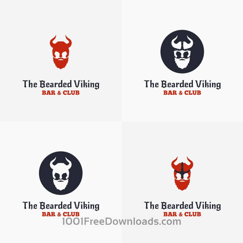 Free The Bearded Viking Vector Logo