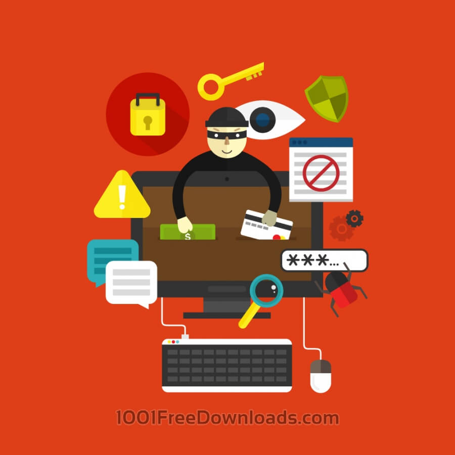 Free Vectors: Online Thief | Objects