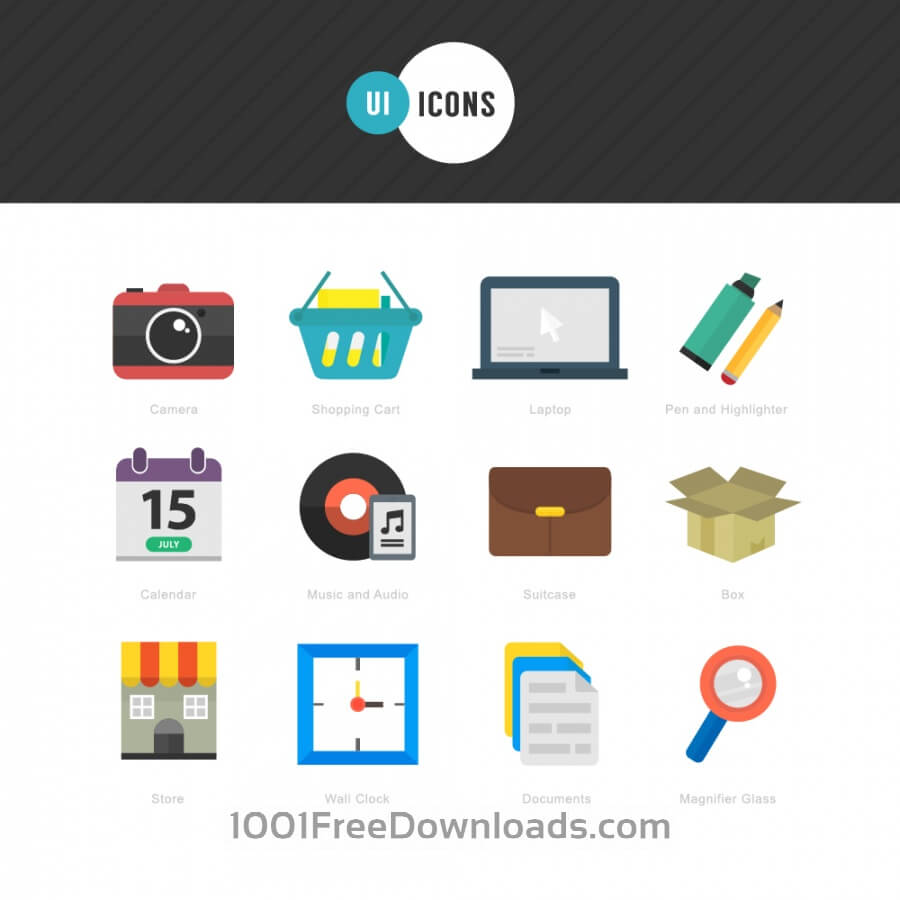 Free Vectors: Flat Icons for UI Design | Icons