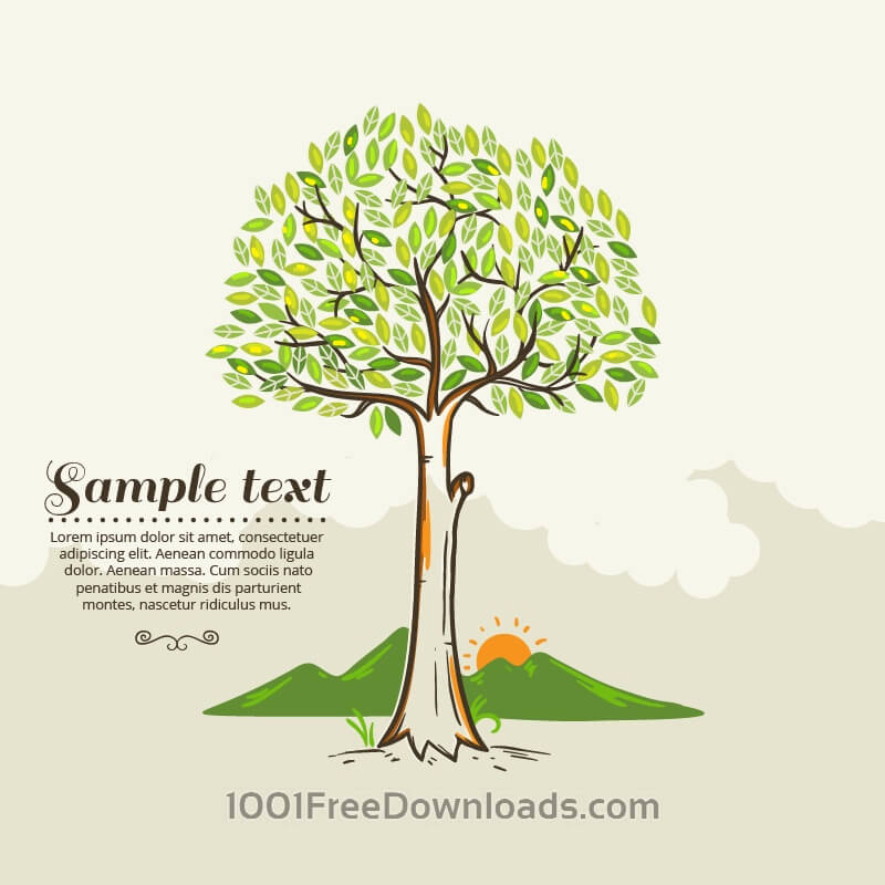 Free Vectors: Tree vector illustration | Abstract