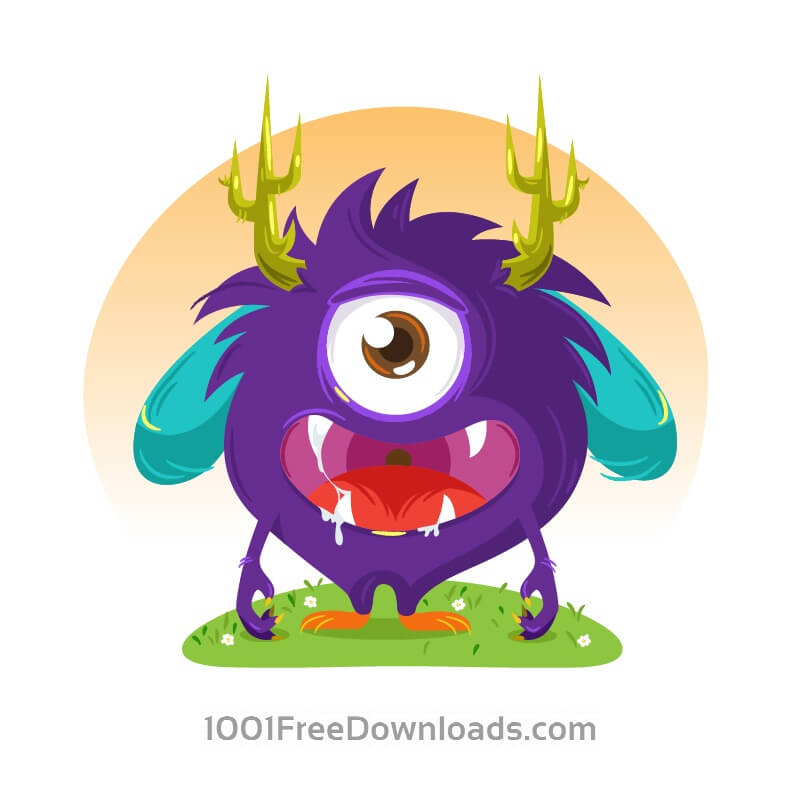 Free Vectors: Cute monster | Abstract