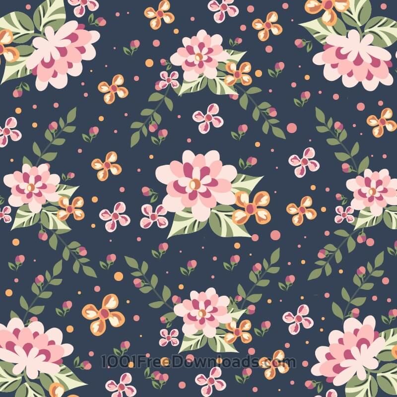 Free Vectors: Floral illustration  | Backgrounds