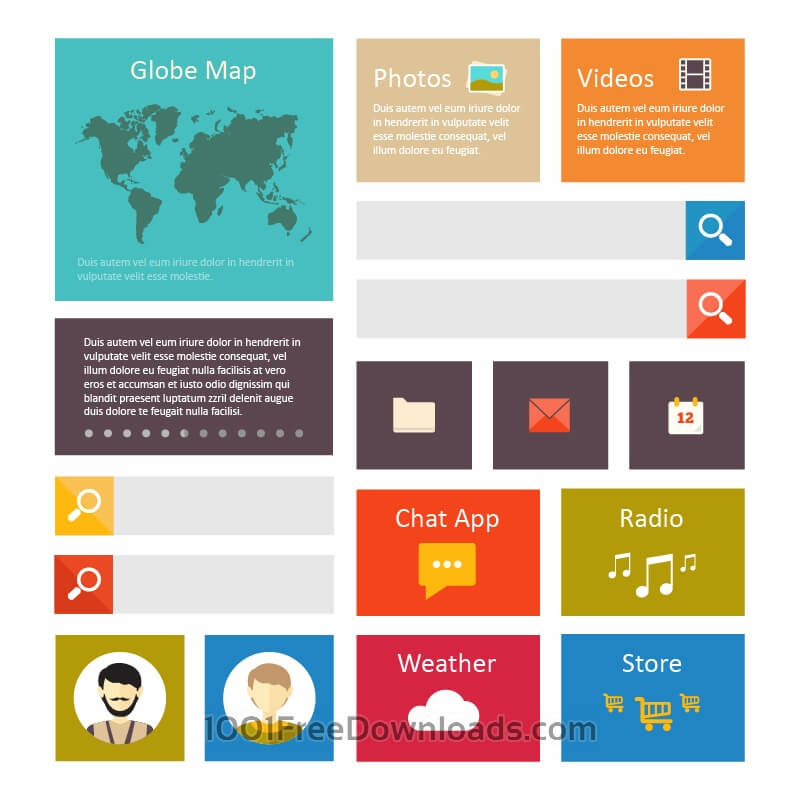 Free Vectors: Infographic webpage elements | Icons
