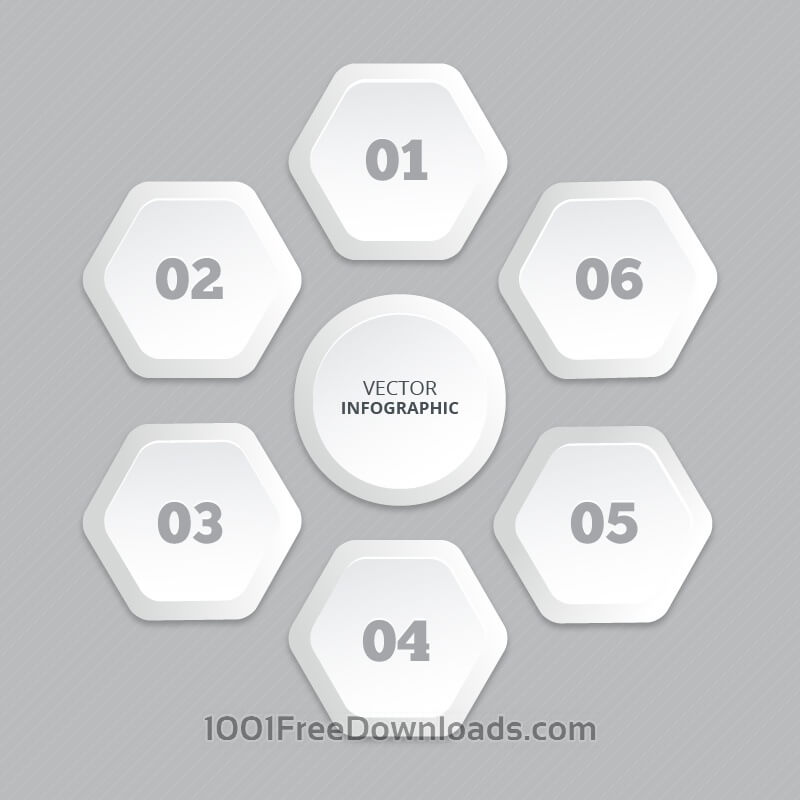 Free Infographic with honeycomb structure