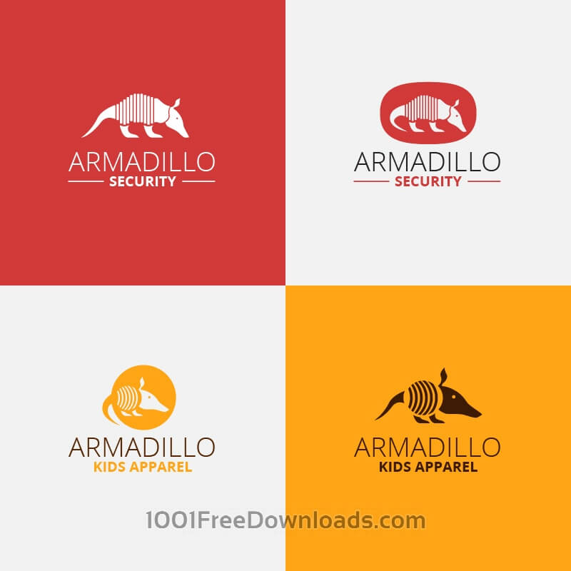 Free Security armadillo logo design