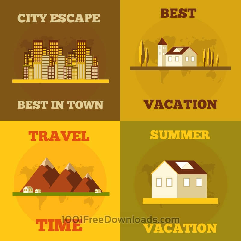 Free Vectors: Travel flat concept design | Icons