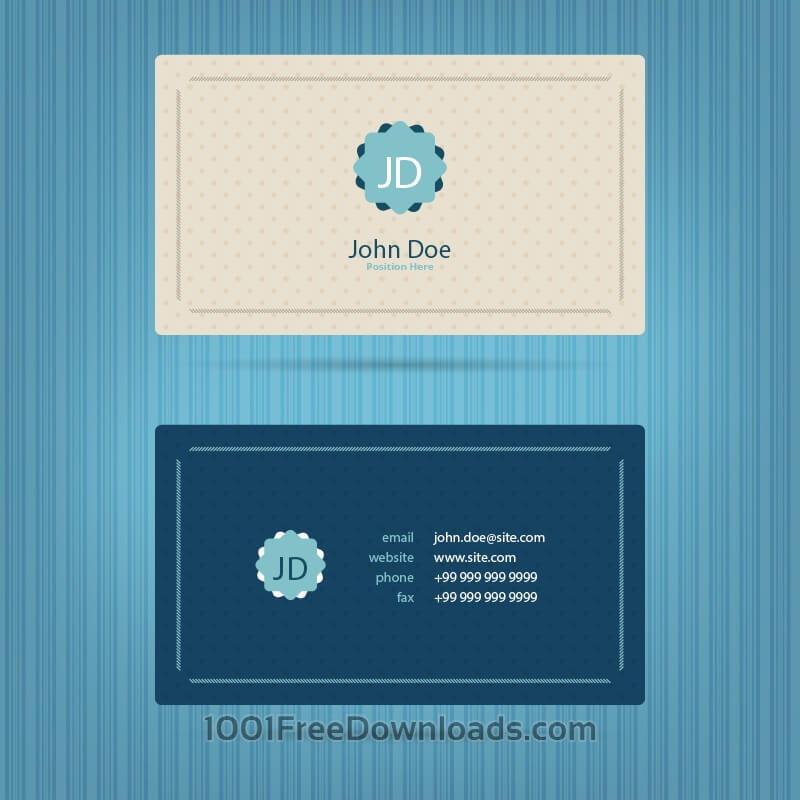 Free Modern blue business card template
