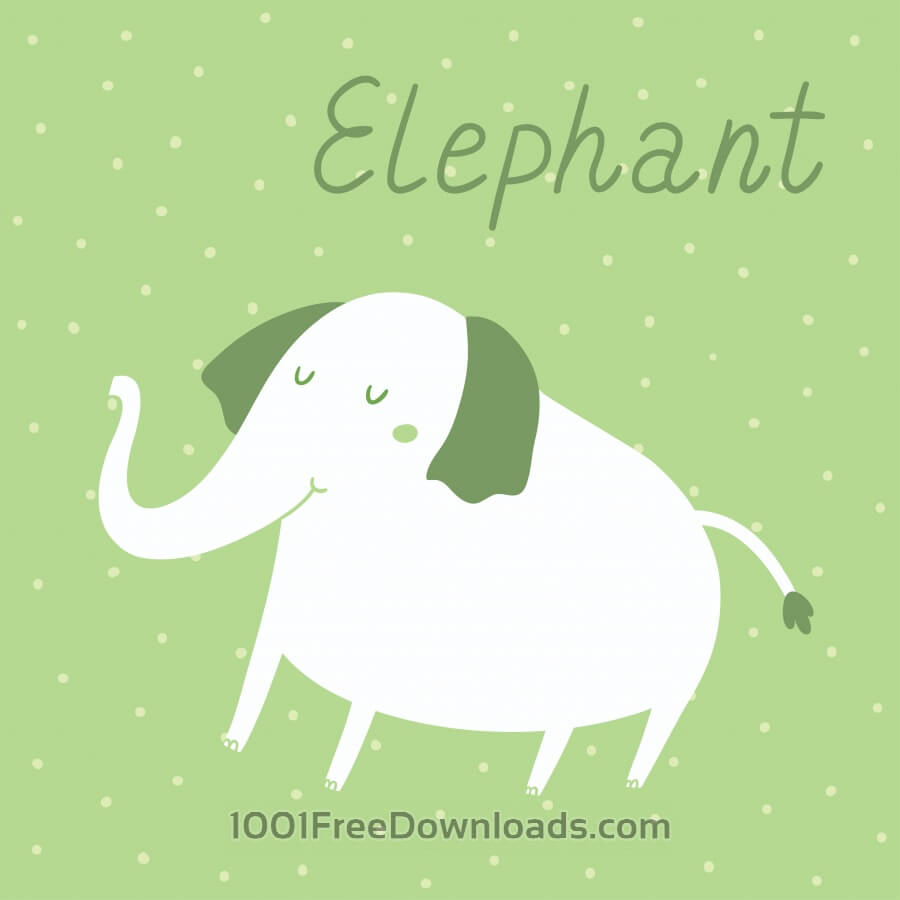 Free Vector illustration of an elephant