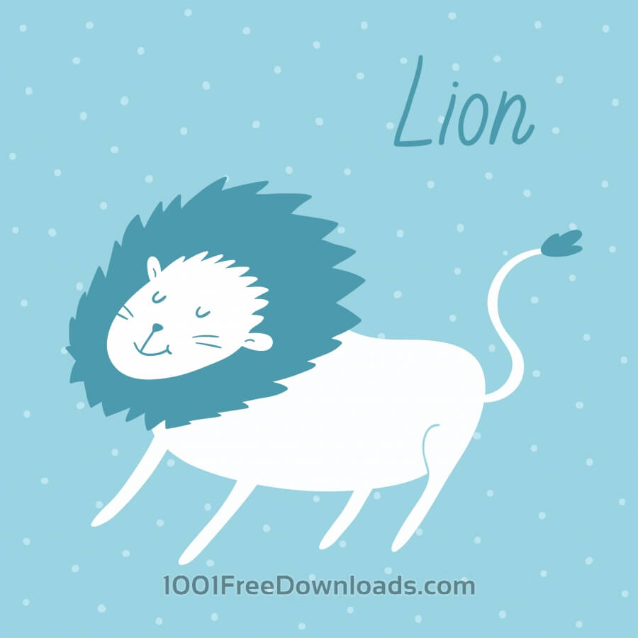 Free Vector illustration of a lion