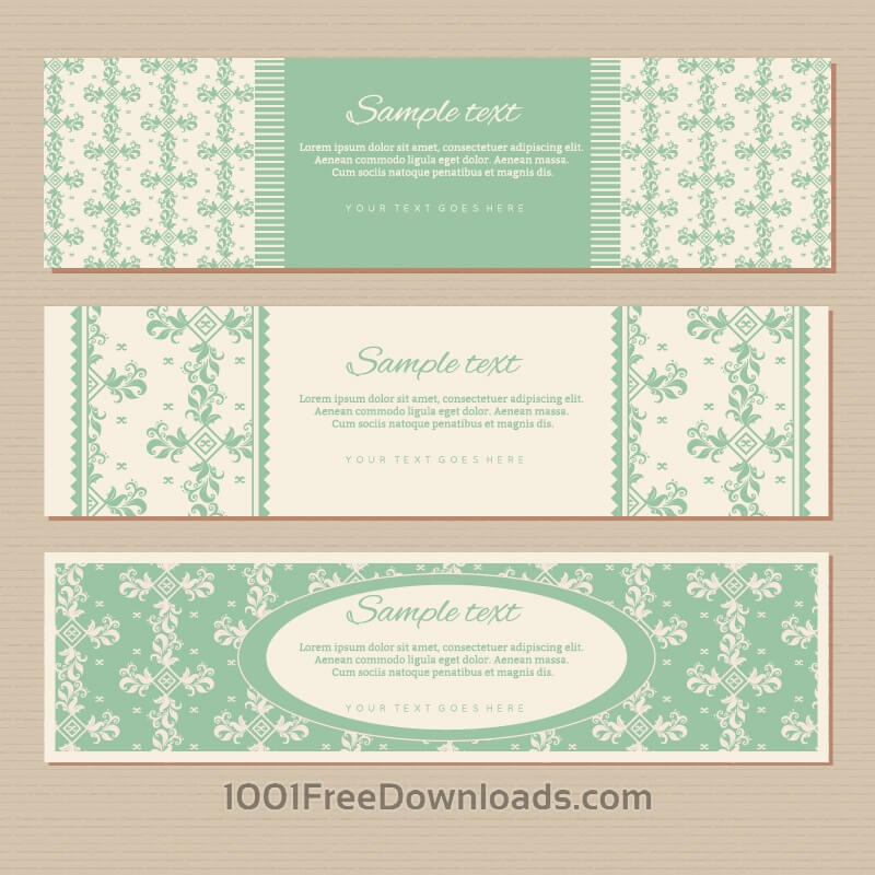 Free Vintage floral banners