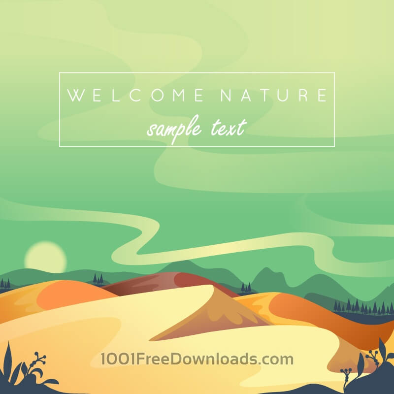Free Vectors: Desert landscape | Backgrounds
