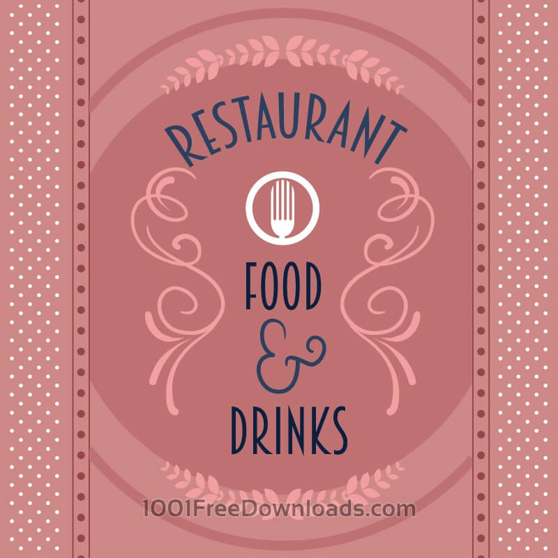 Free Vectors: Restaurant card with floral decorations | Abstract