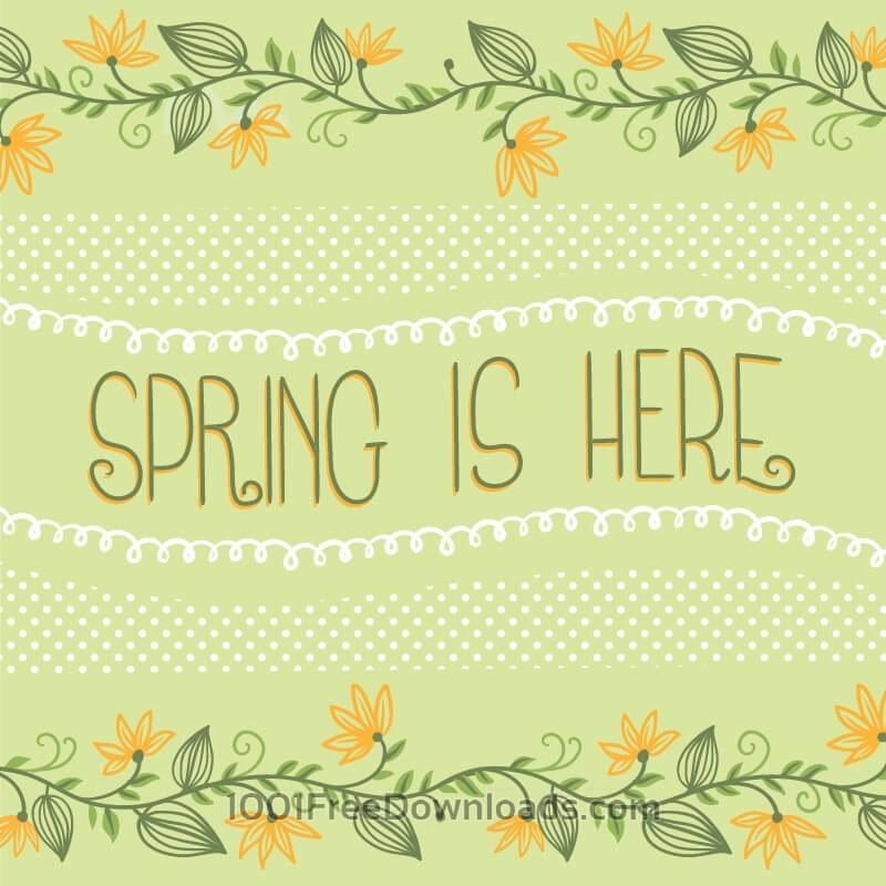 Free Spring floral card