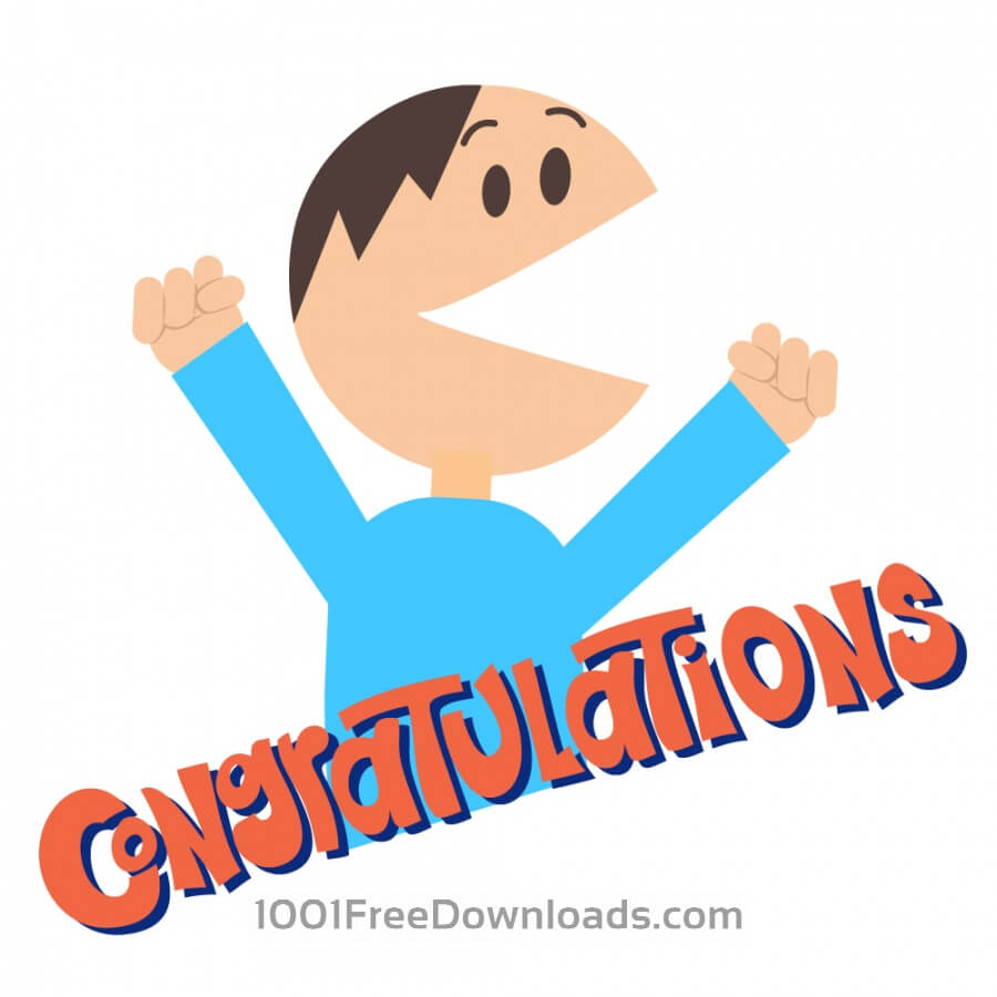 Free Vectors: Man Says Congratulations | People
