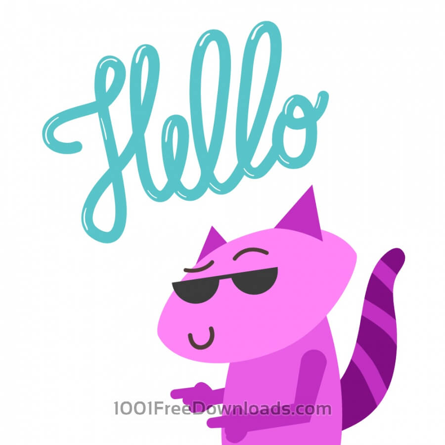 Free Vectors: Raccoon Says Hello | Animals