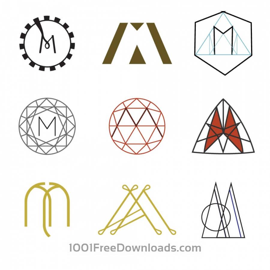Free Vectors Letter M Monograms  Symbols