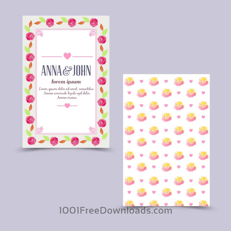 Free Vectors: Invitation card with floral background | Flowers