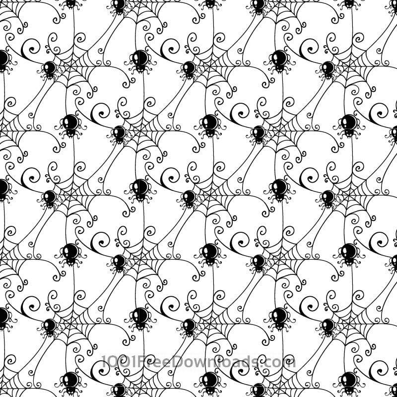 Free Vectors: Pattern with spider web background | Patterns