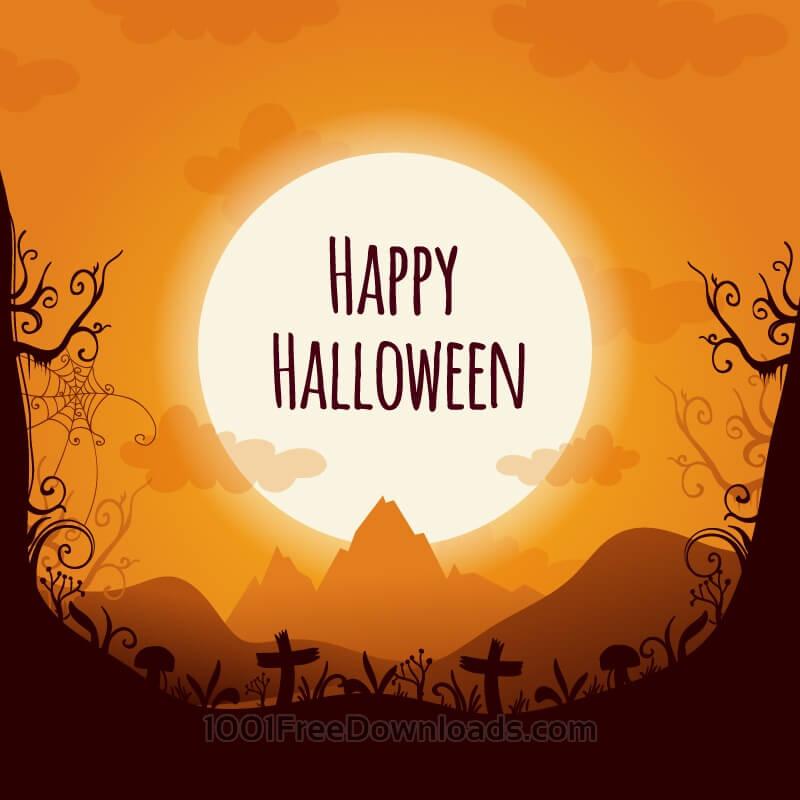 Free Halloween landscape