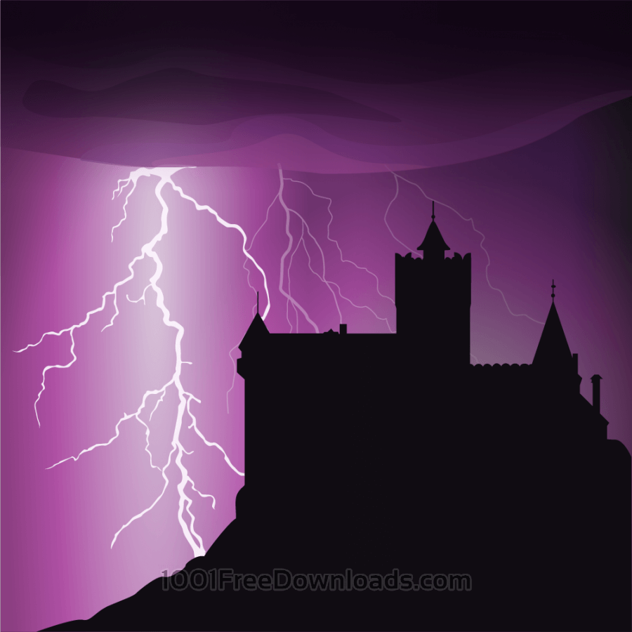 Free Halloween castle background