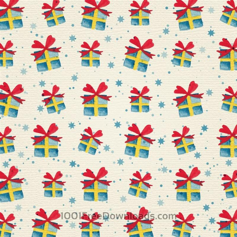 Free Christmas background with gifts