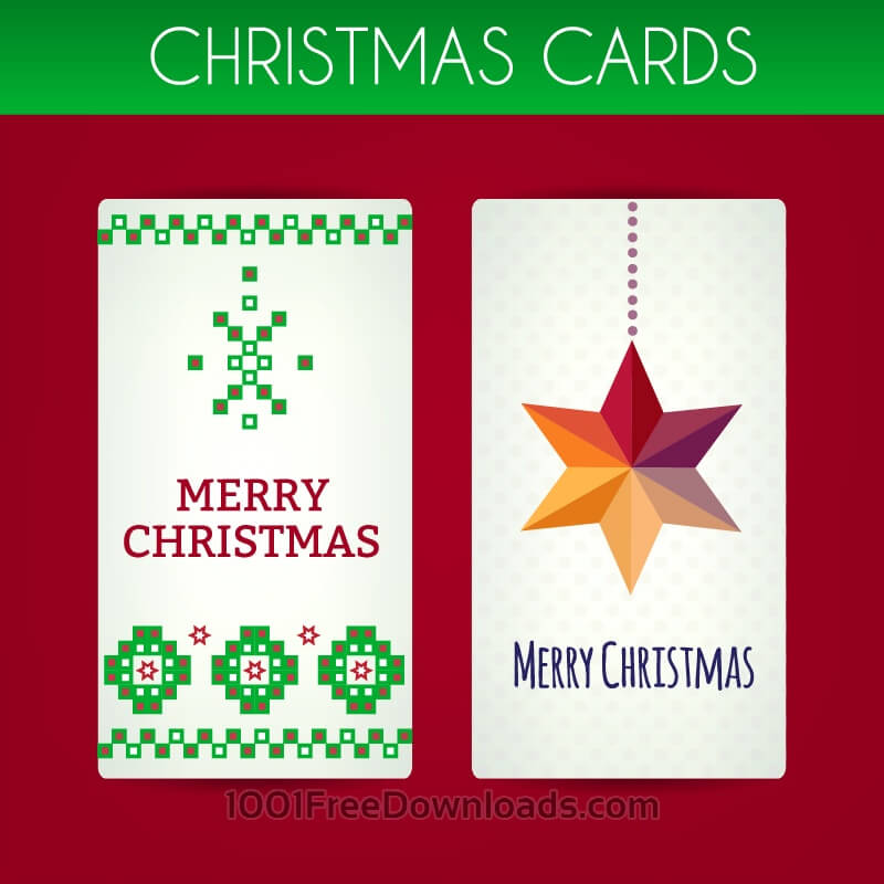 Free Vectors: Christmas cards | Holidays