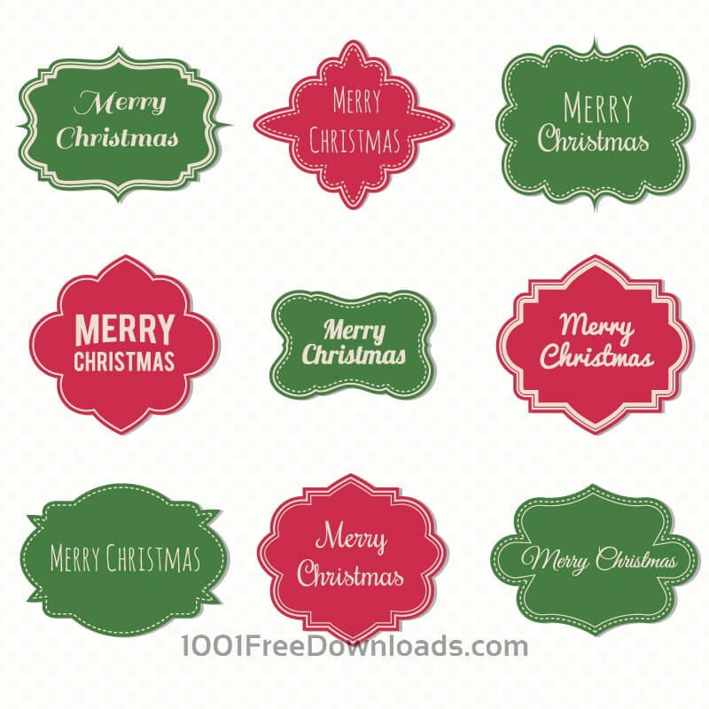 Free Christmas label set