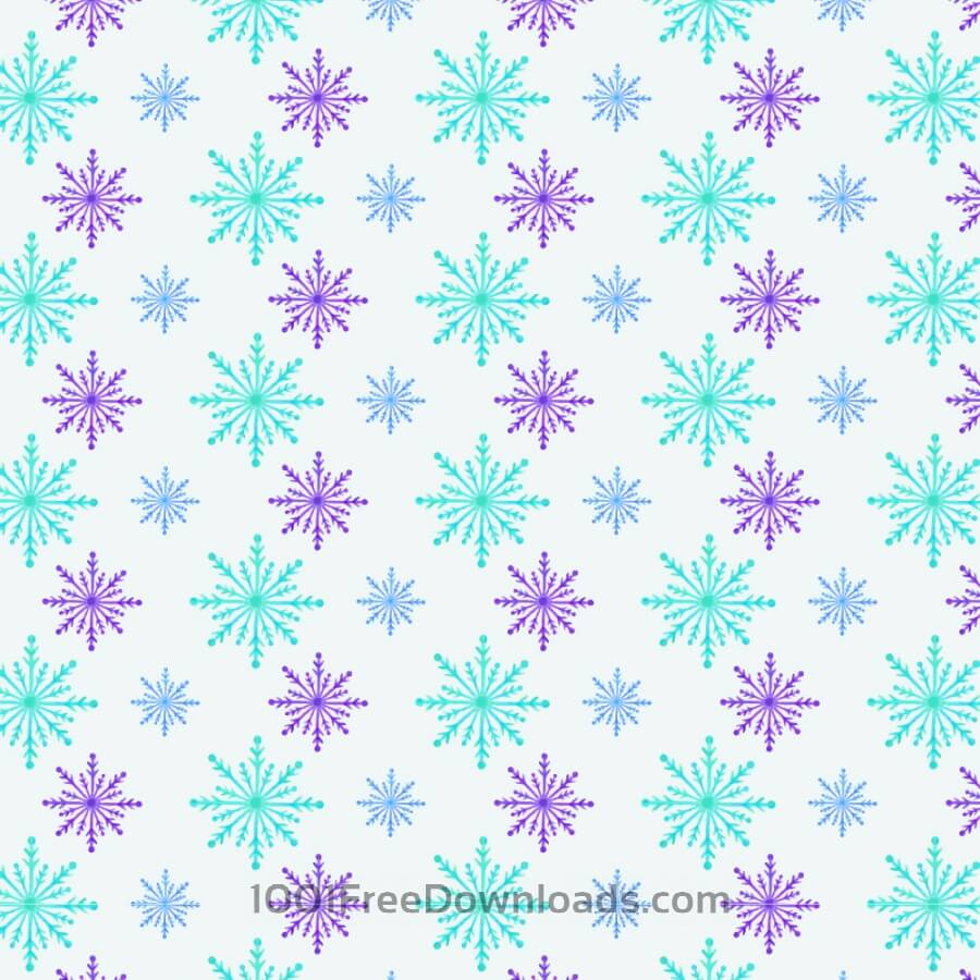 Free Vectors: Christmas pattern with snowflakes | Patterns