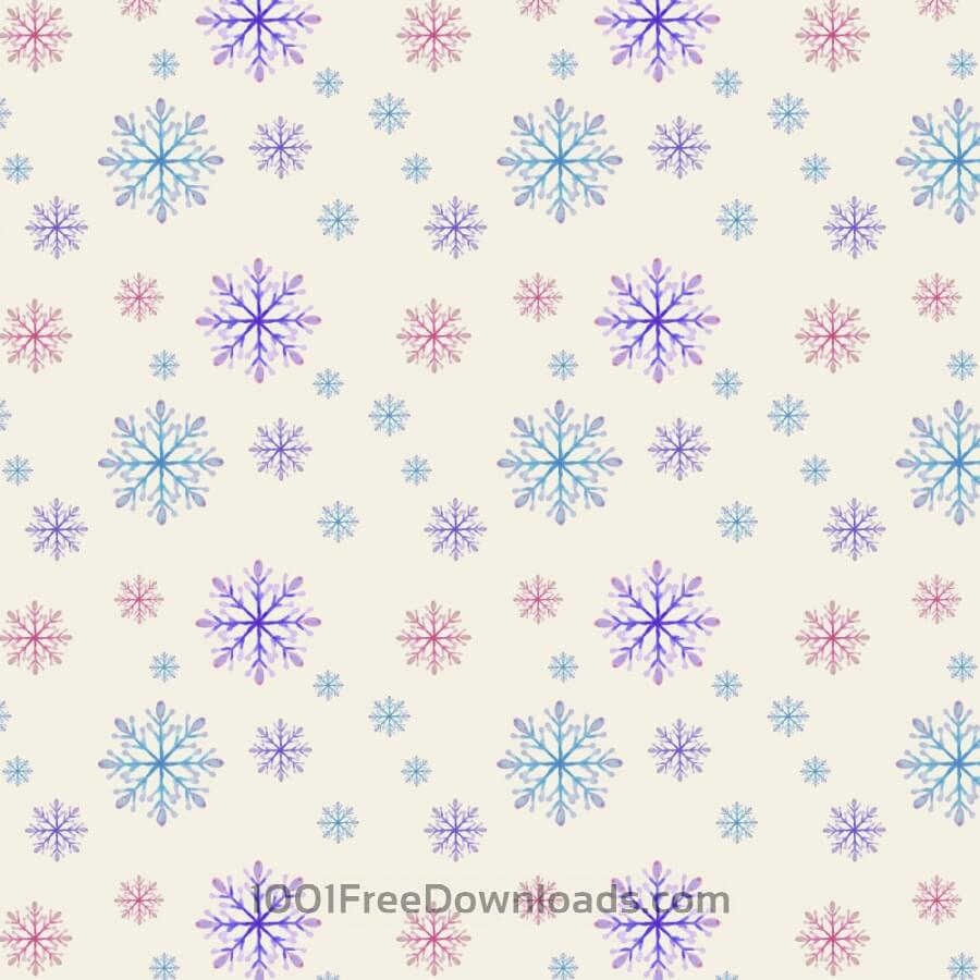 Free Christmas pattern with snowflakes