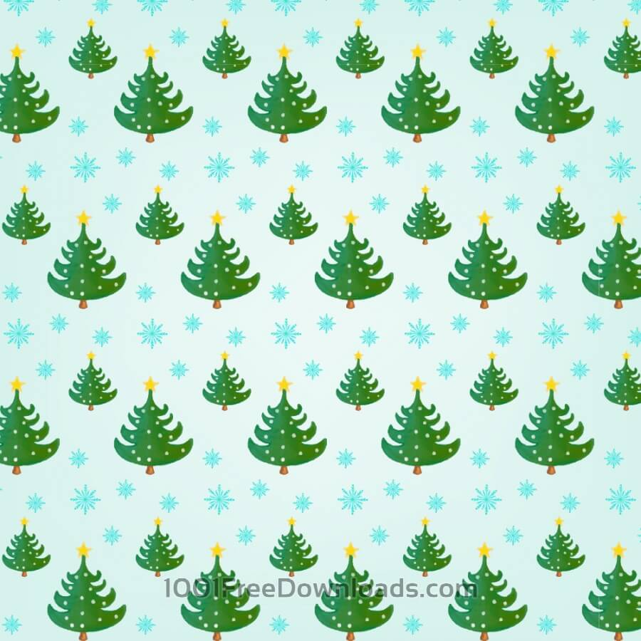 Free Christmas pattern with Christmas trees