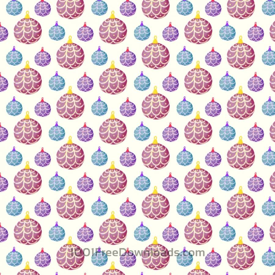 Free Vectors: Christmas pattern with balls | Backgrounds