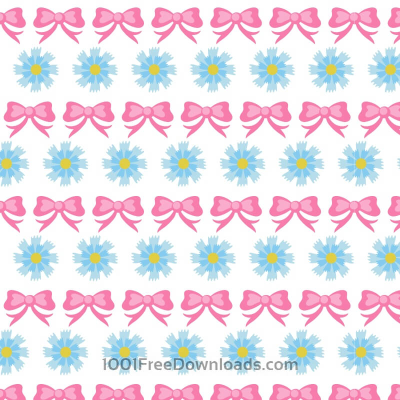 Free Floral pattern with bow