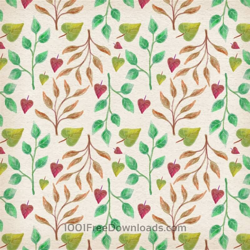 Free Vectors: Watercolor leaves collection | Patterns
