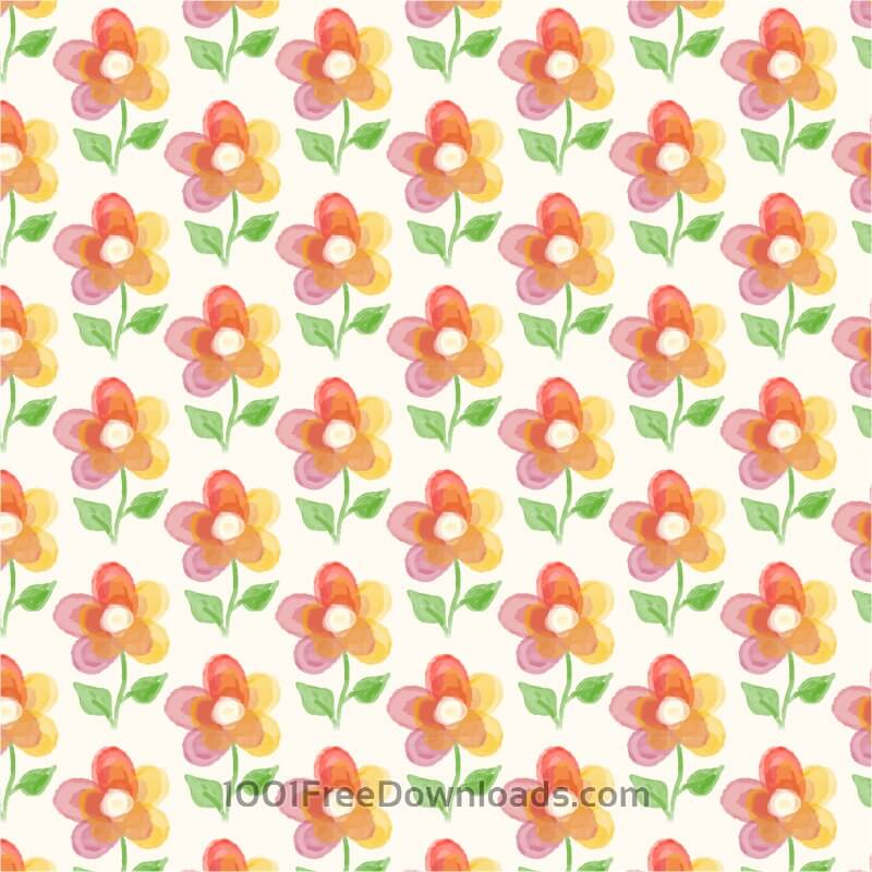 Free Vectors: Floral background with watercolor flower | Patterns
