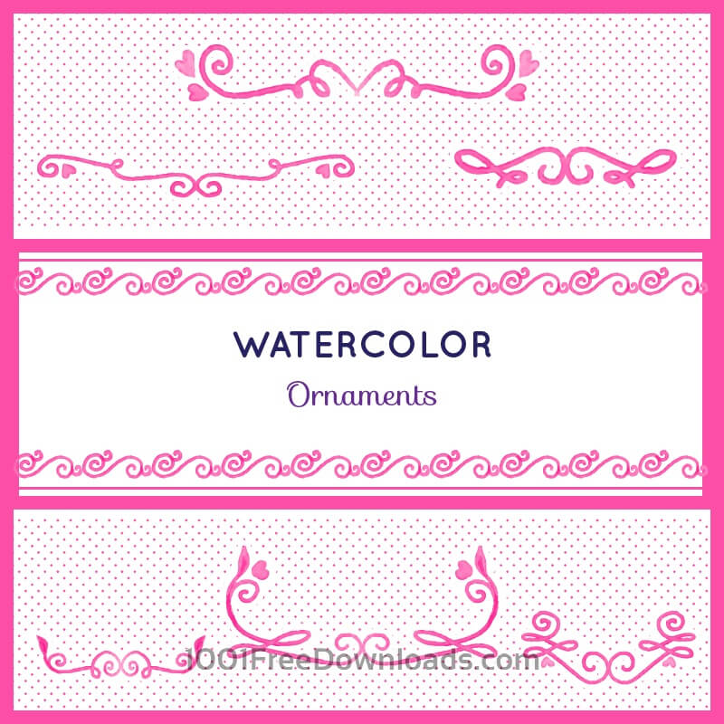Free Watercolor set of ornamnets