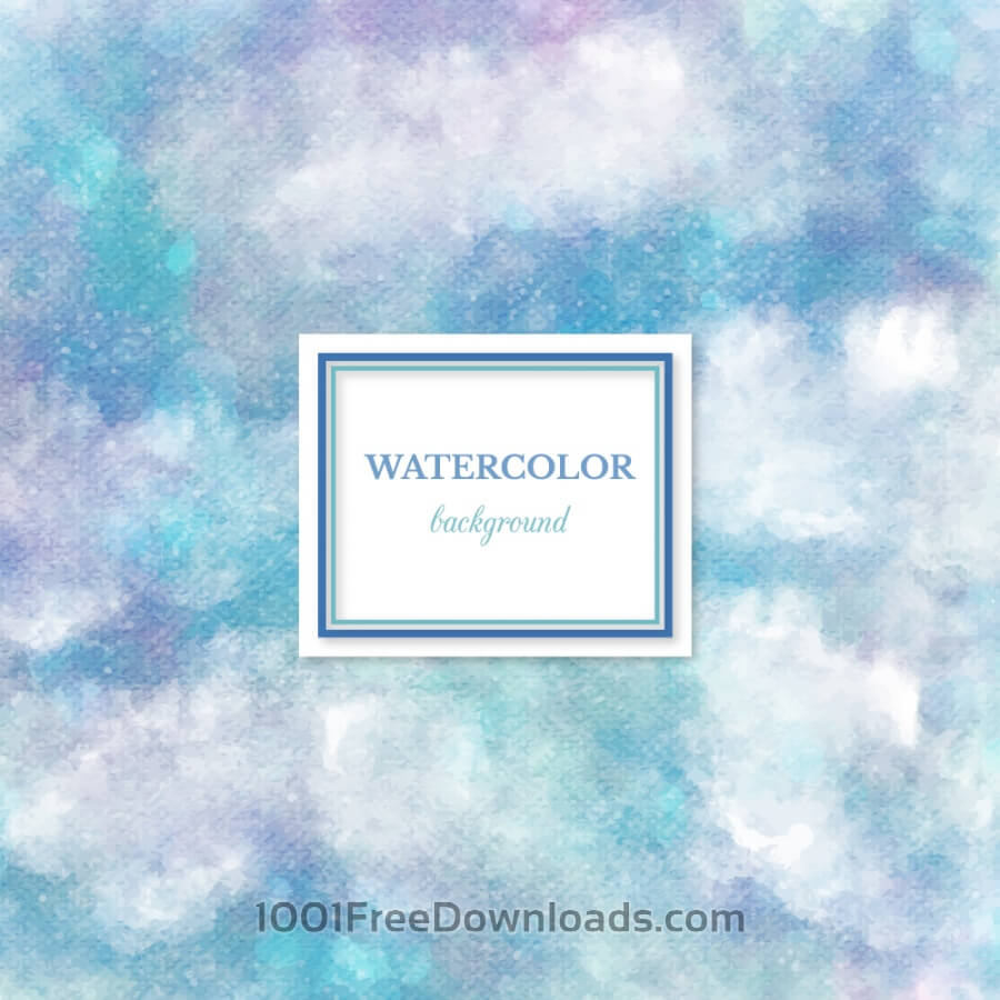 Free Vectors: Watercolor background with frame | Abstract