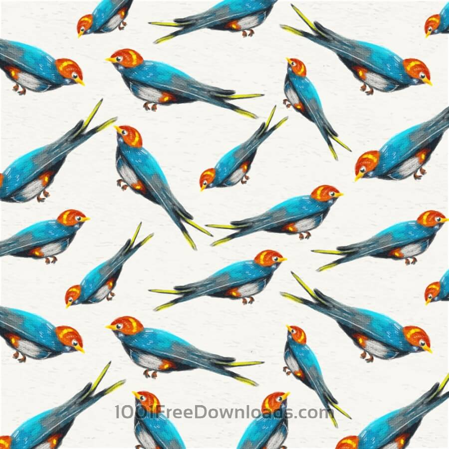 Free Watercolor background with sparrows