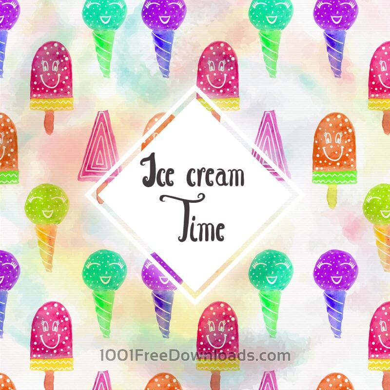 Free Vectors: Watercolor Ice cream background | Backgrounds