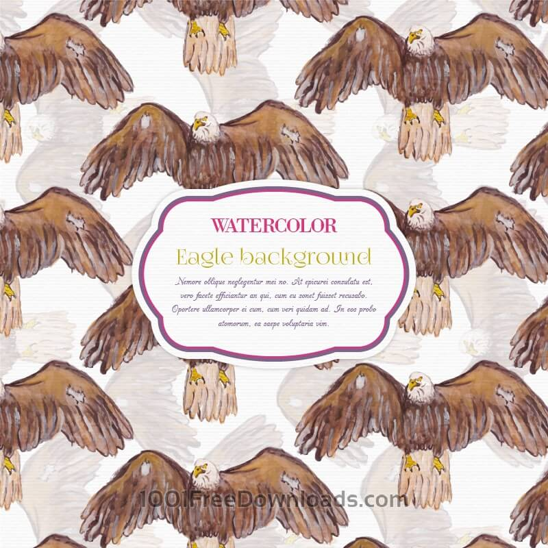 Free Watercolor eagle background