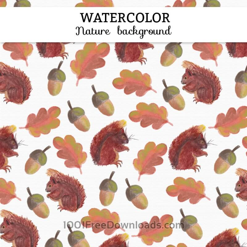 Free Watercolor autumn background